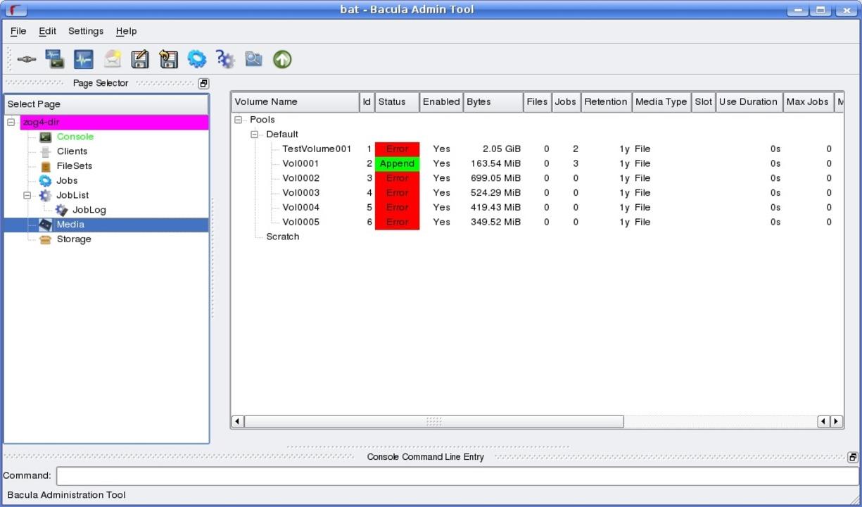 Bacula - Das Bacula Admin Tool.  | Foto: IDG