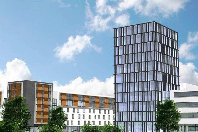 Der Turm an der Zähringer Straße ist erstmal gekippt
