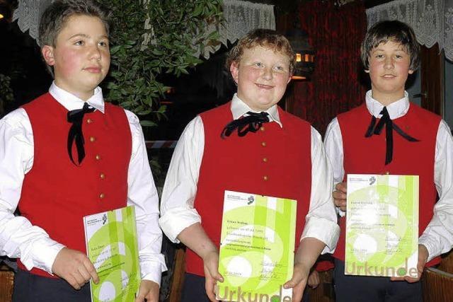 Drei neue Jungmusiker