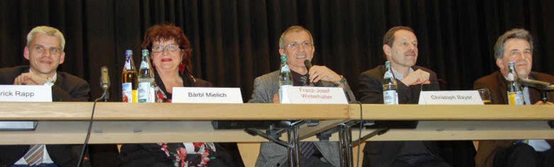 Es diskutierten (von links) Patrick Ra... Christoph Bayer, und Martin Cammerer.  | Foto: Umiger