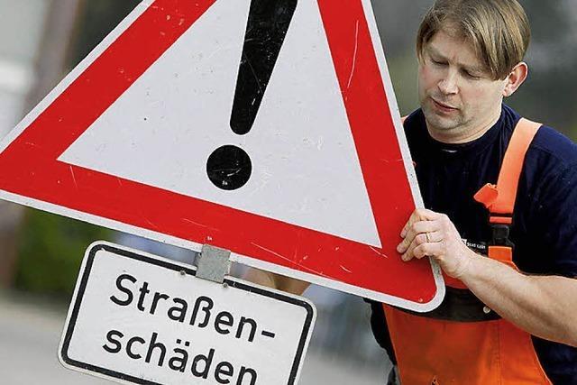 Straßenflick-Programm beginnt am Montag