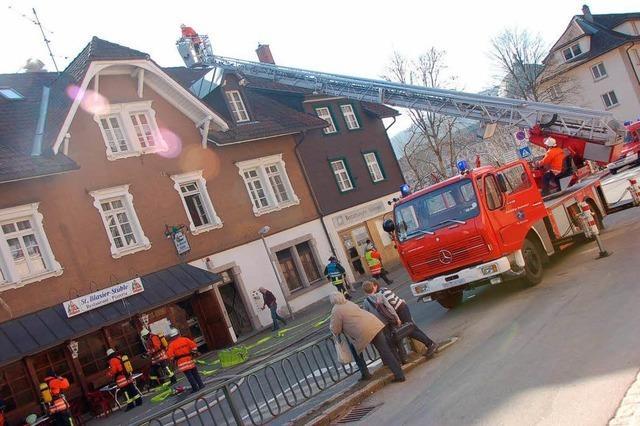 Küchenbrand im Gasthaus St. Blasier Stüble endet glimpflich