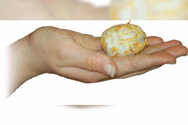 Ein Osterei zum Händewaschen