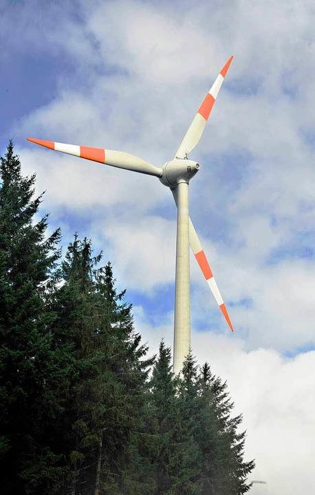 Nicht nur dem Wind, auch den Blicken ausgesetzt: Windrad  | Foto: Michael Bamberger