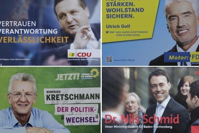 Umfrage:Rot-Grün in Baden-Württemberg klar vorn