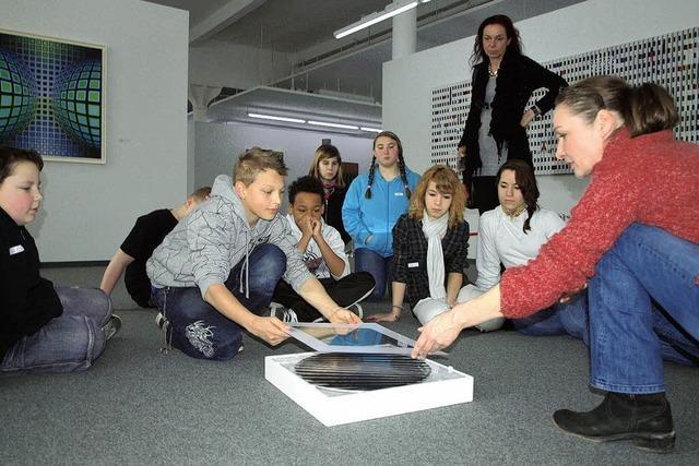 Schüler entdecken in Riegel die Faszination bewegter Kunst