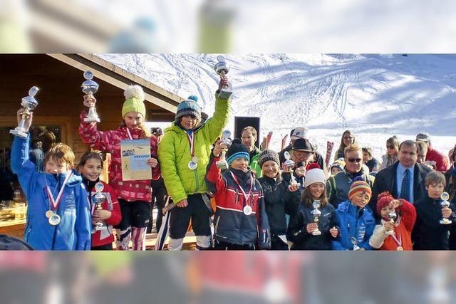 Nachwuchstalente eroberten die Skipiste