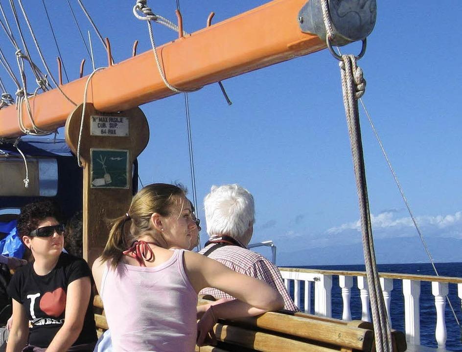 Warten auf die Wale: Dutzende von Booten gehen vor Teneriffa  auf Tour.      | Foto: SERGIO HANQUET/ANDREAS STREPENICK