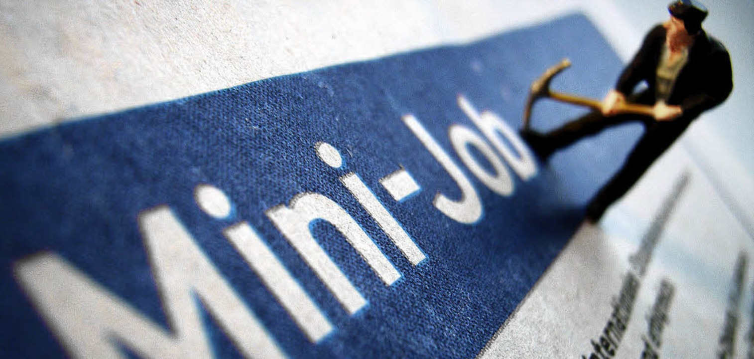 Minijobs haben in Deutschland innerhal...ölf Jahren um 136 Prozent zugenommen.   | Foto: dpa