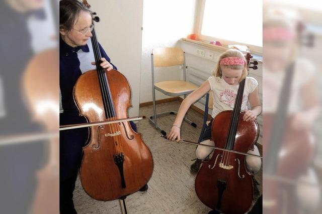 Flötentöne und erste Bogenstriche