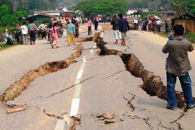 Die Erde zittert in Birma