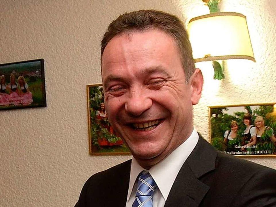 Marcel Schwehr freut sich bei der CDU-... wieder das Direktmandat erreicht hat.  | Foto: Patrik Müller