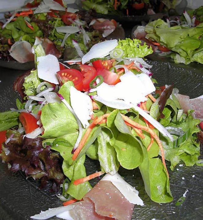 "Salat im ""Waldstüble"".  | Foto: privat"