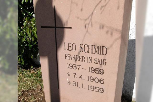 Gedenken an Pfarrer Schmid