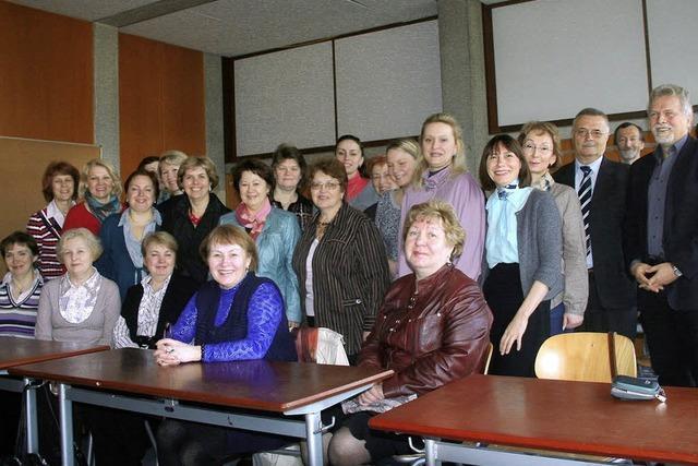 Wissbegierige Frauen aus Moskau