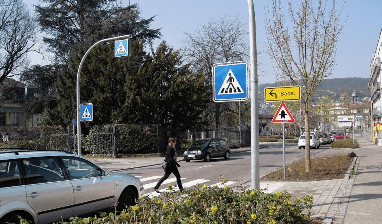 Vorfahrt für Fußgänger heißt es an dem...ebrastreifen in der Baumgartnerstraße   | Foto: Sebastian Wolfrum