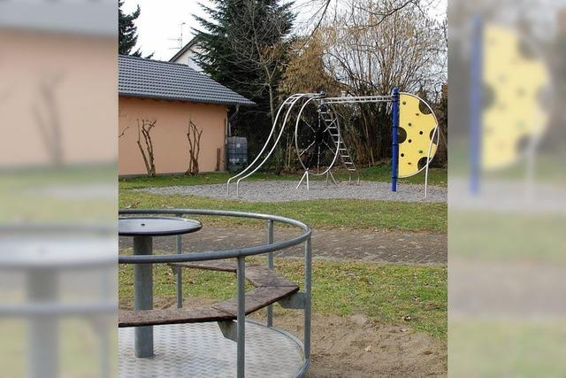 Spielplatz wird verbessert