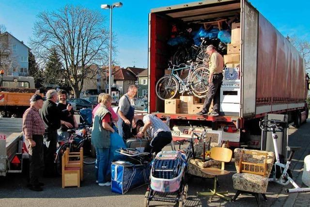Hilfstransport nach Polen am 12. April