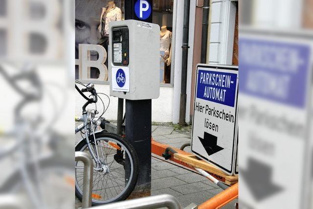 Parkscheine nun auch für Fahrräder nötig