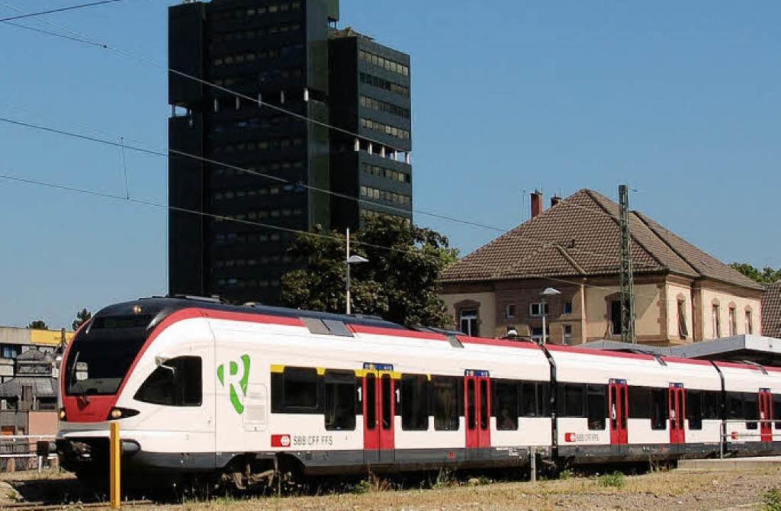 Lörrach und die S-Bahn war das Thema im Gemeinderat.   | Foto: Trenz