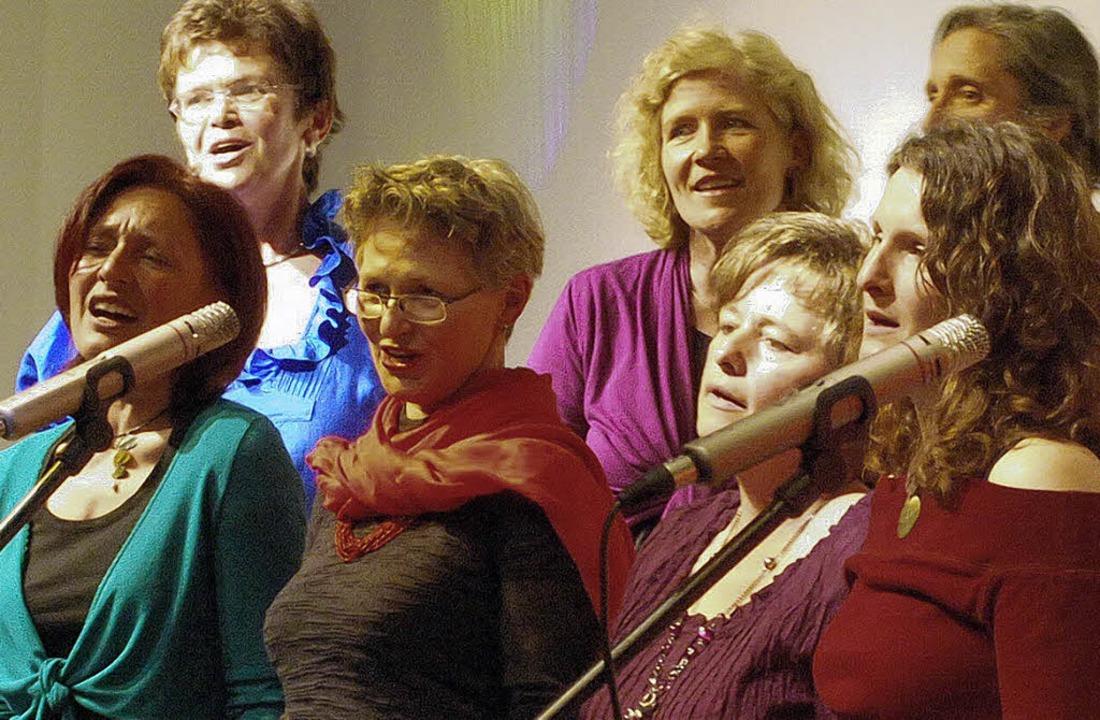 Mit einem abwechslungsreichen Konzert ...hor Miss-Tones für beste Unterhaltung.    Foto: benjamin bohn