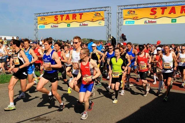 Fotos vom Freiburg-Marathon 2011: der Start