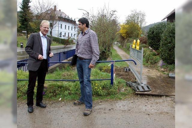 Der Auer Brückenbau beginnt