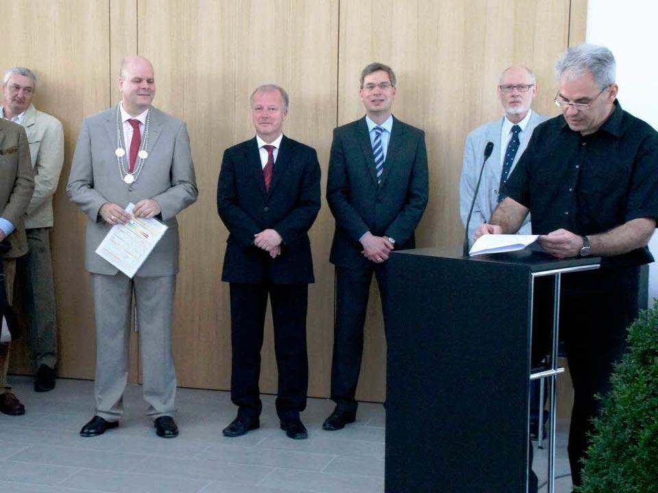 Tag der offenen Tür im Bürgerhaus: Das...ter des Hauses, Architekt Walter Hess.  | Foto: Ilona Hüge