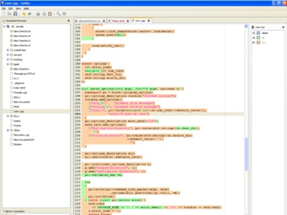 Gobby - Im Gegensatz zu Google Docs pr...en Codens, via Chat-Funktion, beraten.  | Foto: IDG