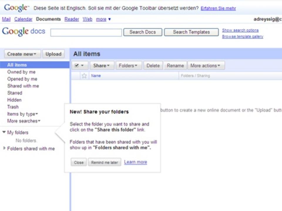 Google Docs - Mit Google Docs lassen s...ne funktionierende Internetverbindung.  | Foto: IDG