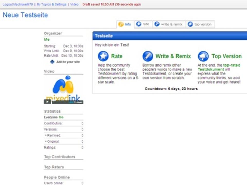 MixedInk - Ursprünglich als webbasiere...extdokumente mit kurzer Halbwertszeit.  | Foto: IDG