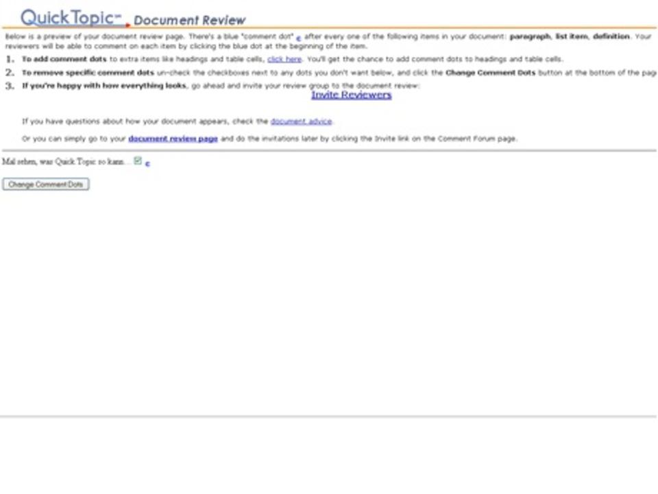 QuickTopic - Nach Erstellen eines User...m Upload als HTML-Datei abzuspeichern.  | Foto: IDG