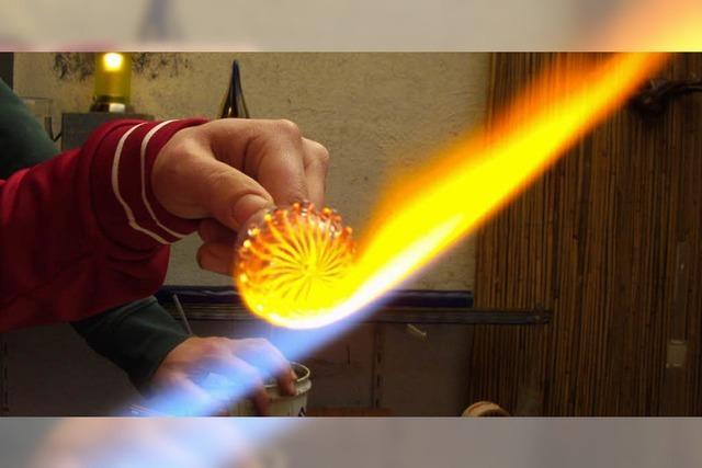 Faszinierende Glasbläser-Kunst hautnah präsentiert