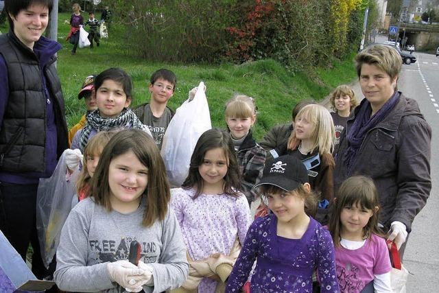 Schüler sammeln wahre Müllberge