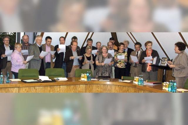 Martin Löffler - als Bürgermeister in Amt und Würden