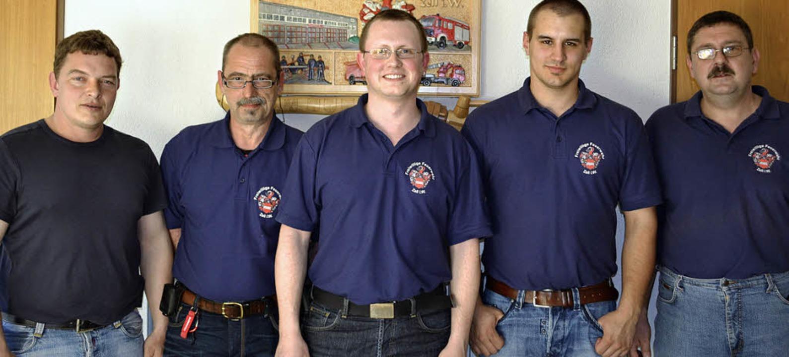 Zeller Feuerwehrvereins (von links):  ...el Friedrich, Kommandant Thomas Roth.   | Foto: Paul Berger