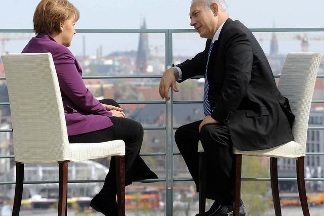 Merkel dringt auf Fortschritte in Nahost