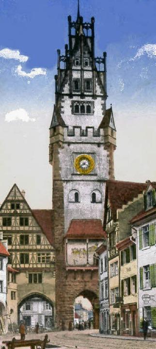 Schwabentor Freiburg auf einem Stich aus dem Jahre 1917  | Foto: Hans Sigmund