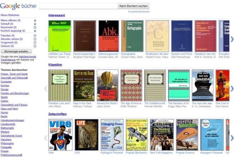Google Bücher durchsucht Bücher nach Textstellen.