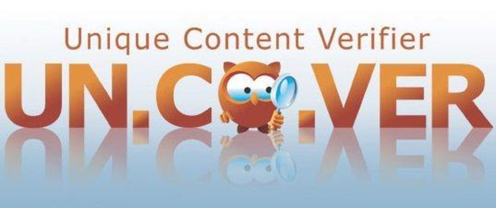 Der Unique Content Verifier für Window...nux durchsucht das Web nach Plagiaten.
