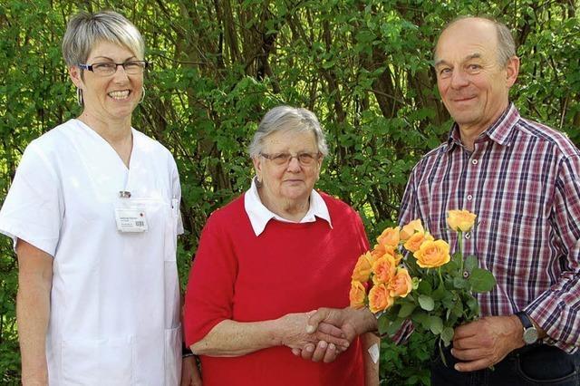Ein Blumenstrauß für Hilde Zodel