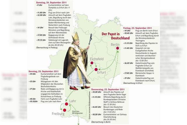 Der Papst-Reiseplan steht