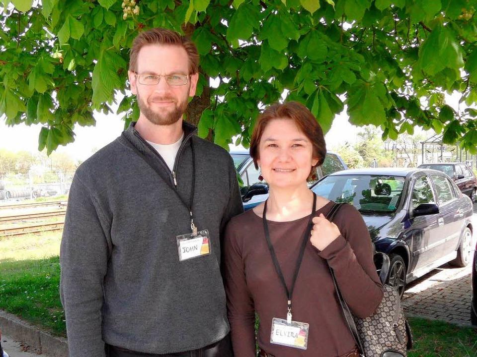Elvira und John Allison aus den USA vo...ternationalen Konferenz in Gottenheim.  | Foto: Paulina Grimm