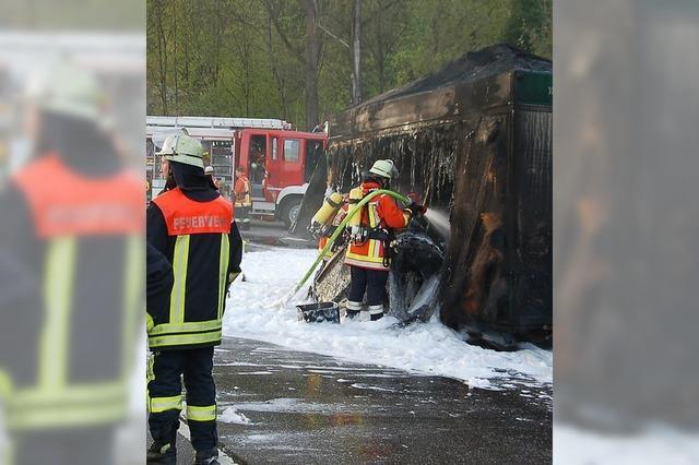 Pils-Wagen ausgebrannt