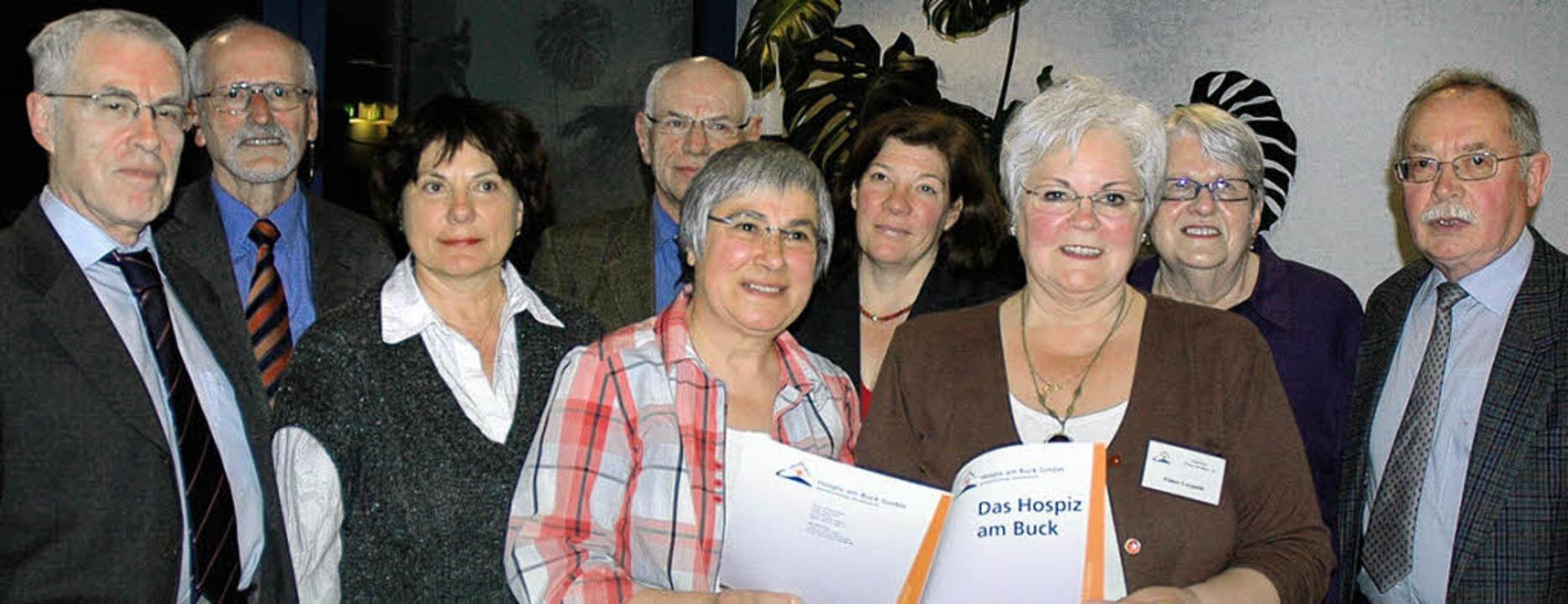 Peter Biwer, Horst Donner, Gerlinde Bö...enta Grether, Anton Reize (von links)   | Foto: Wieschenkämper