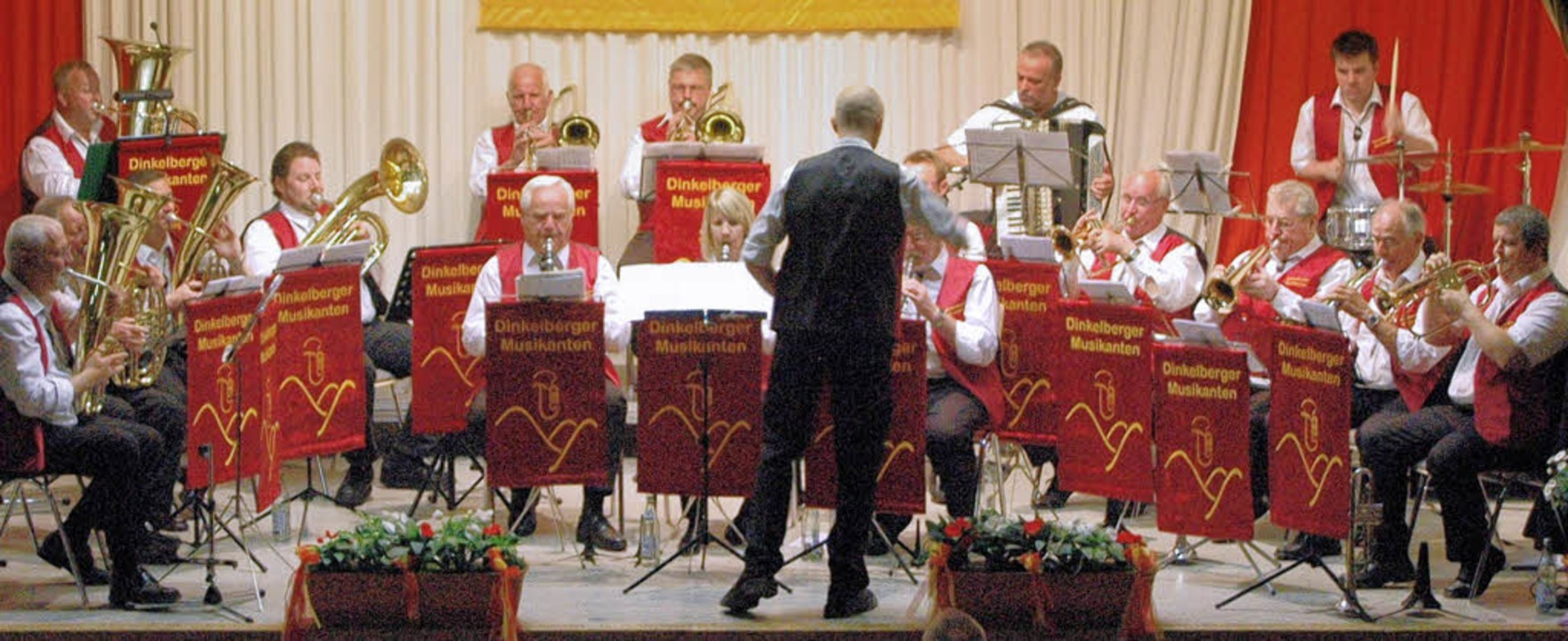 Blasmusik vom Feinsten: Die neu formie...kanten bei ihrem Konzert in Hüsingen.   | Foto: Winter