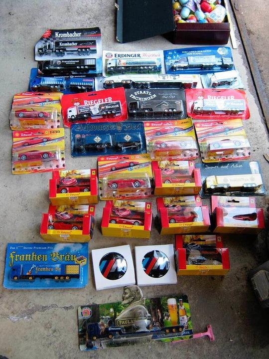Ein Koffer voller Sammler-Ferraris und Modell-Lastwagen  | Foto: peter stellmach