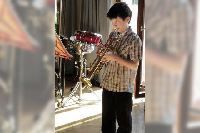 Junge Musiker lassen sich hören