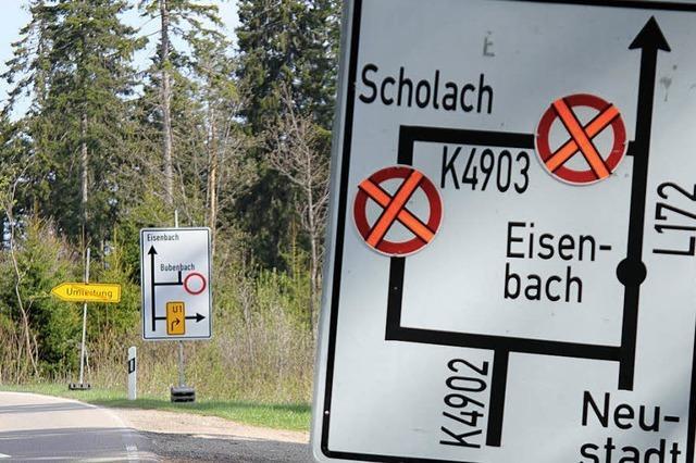 Viele Umleitungen in Eisenbach