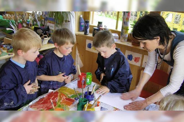 Kinder schaffen Kunst